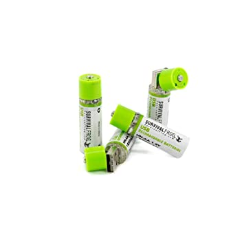 Amazon.com: EasyPower - Pilas recargables USB AA (4 unidades ...