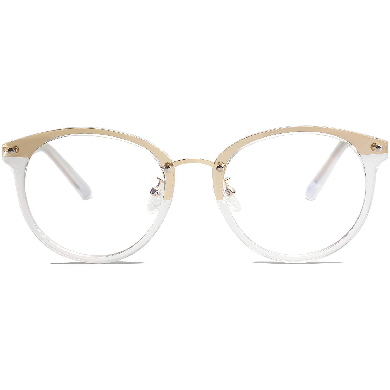 b2cfbddec93f VANLINKER Clear Lens Eyeglasses Anti Blue Light Computer Reading Glasses  VL9001 C07 Transparent Clear Frame