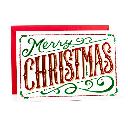 Hallmark Christmas Card (Blank Inside Merry Christmas Card) -