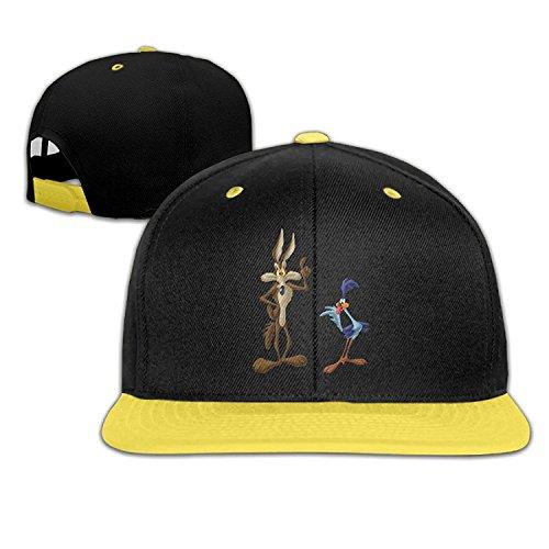 Road Baseball Hat - PGiG Kid's Wile E Coyote And Road Runner Looney Tunes Adjustable Snapback Hip Hop Baseball Hats Caps
