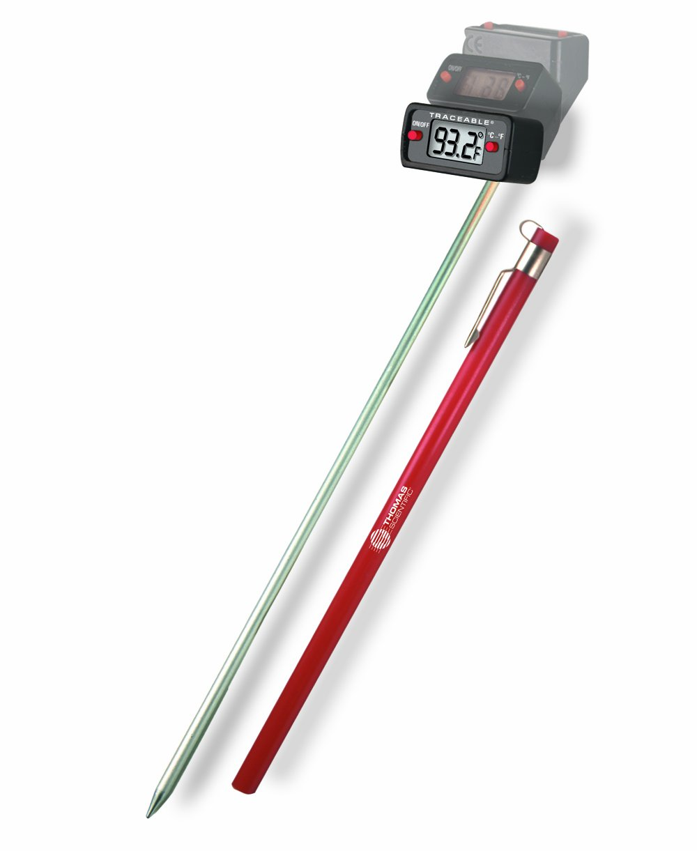 Thomas Traceable Ultra Robo Thermometer, 8'' Stem, -50 to 280 degree C, -58 to 536 degree F