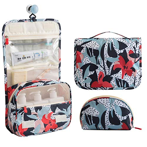 Toiletry Multifunction Organizer Portable Flowers 2