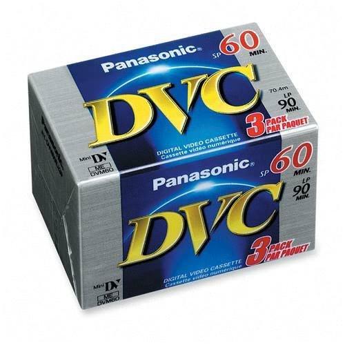 Panasonic AY-DVM60EJ3 MiniDV Tapes (60 Minute, 3 Pack) AYDVM60EJ3