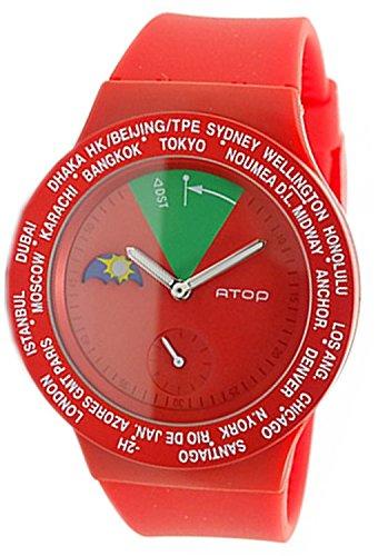 ?ATOP watch World Time VWA-05 Red Men