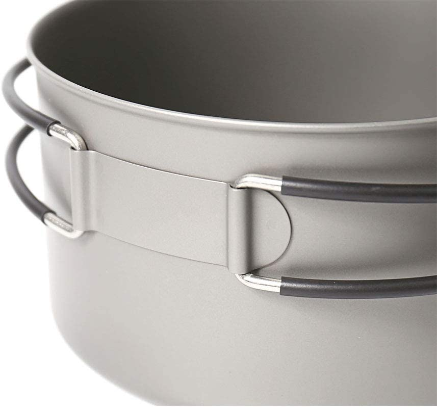 pot pan set hiking cookware Toaks titanium outdoor camping pan backpacking cooking picnic bowl