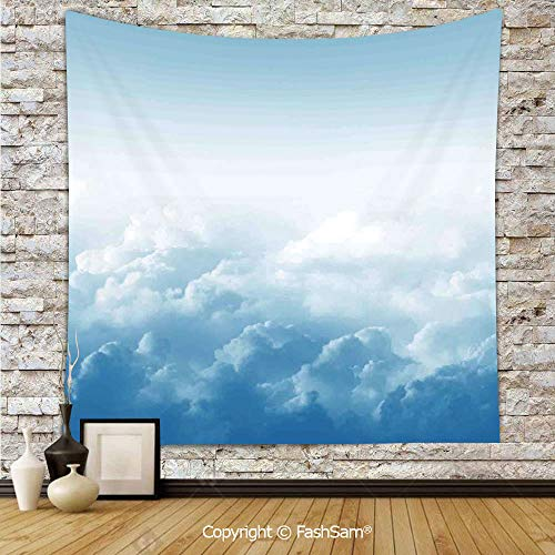 FashSam Polyester Tapestry Wall Fluffy Clouds High Above Ground Mass of Condensed Water Vapor Floating Dream Image Hanging Printed Home Decor(W39xL59) -