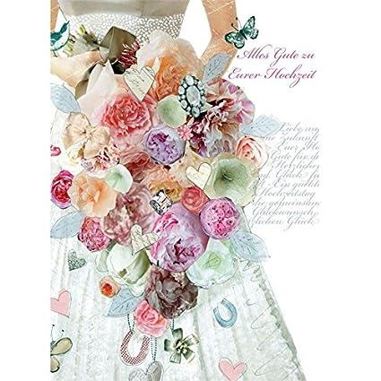 Tarjeta de felicitación hecha a mano de Swarovski boda PopShot pidierasmi vestido de novia flores 12