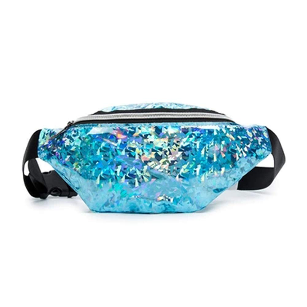 Multi-function Sports Waist Bag for Women Laser Large-Capacity Dumplings Stylish Fanny Pack