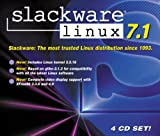 SLACKWARE LINUX 7.1 (IN JEWEL CASE WITH 4 DISCS/INSTALL GUIDE ONLY -NO BOX/BOOK)