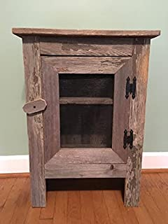 Amazon.com: Old Barn Wood Cabinet. This Simple, Yet Striking Piece ...