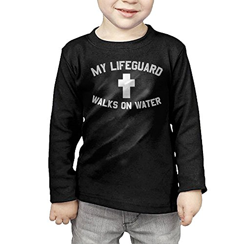 Unisex Christian My Lifeguard Walks On Water Infant T Shirt Baby Clothes