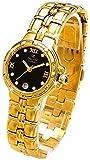 Oskar Emil Ladies Casablanca 300L 23K Gold Diamond Watch with Black Dial RRP $290