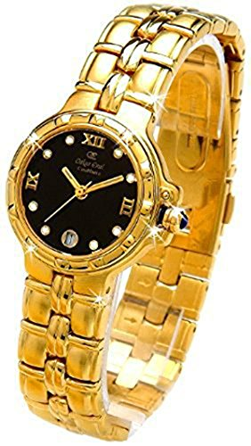 Oskar Emil Ladies Casablanca 300L 23K Gold Diamond Watch with Black Dial RRP $290