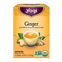Yogi Teas Ginger, 16 Count (Pack of 6)