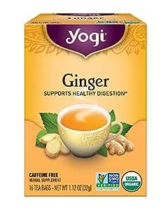 Yogi Tea, Ginger, 16 Count (Pack of 6)