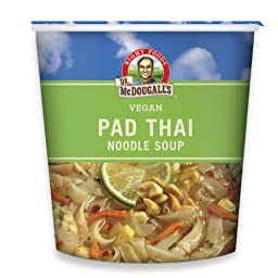 Dr. McDougall\'s Right Foods Vegan Pad Thai Noodle Soup, Fresh Flavor, 2-Ounce Cups (Pack of 6)