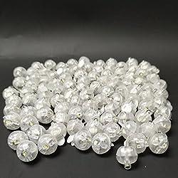 Accmor 100pcs LED Mini Round Ball Balloon Light, Long Standby Time Ball Lights for Paper Lantern Balloon Party Wedding Decoration(White)