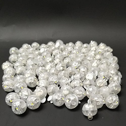 Accmor 100pcs LED Mini Round Ball Balloon Light, Long Standby Time Ball Lights for Paper Lantern Balloon Party Wedding Decoration(White) (Paper Available)