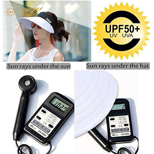 d46b8de10de Sun Visor Hats Women 5.5   Large Brim Summer UV Protection - Import It All