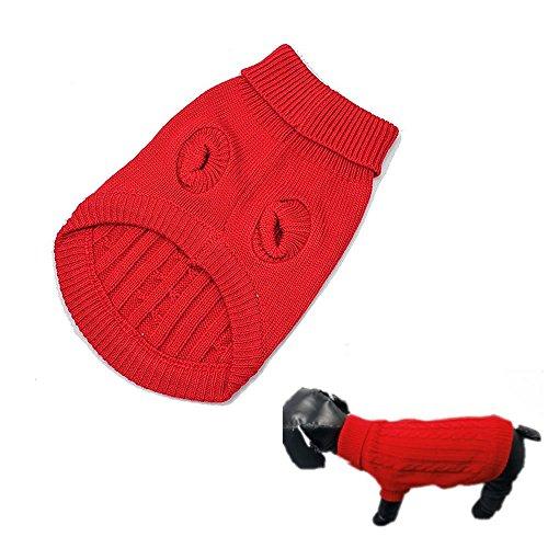 Losuya® Dog Warm Coat Cute Pet Puppy Cat Jumper Sweater Knitwear Apparel Clothes (S)