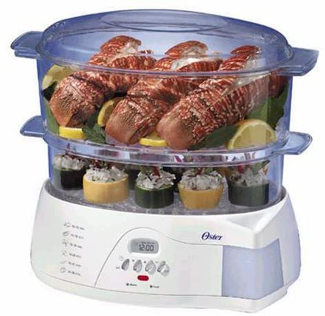 Oster 5712 Electronic 2-Tier 6.1-Quart Food Steamer