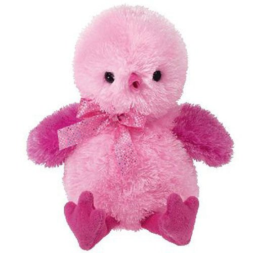 TY Pinkys - CHENILLE the Pink Chick (5.5 inch) - MWMT's