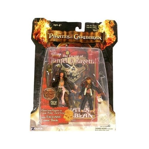 Zizzle Pirates of the Caribbean Dead Man's Chest 3 3/4 Inch Action Figure Series 3 Deluxe Pintel & Ragetti in Look-Alike Jack Gear by Unknown (Zizzle Pirate)