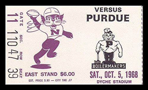 1968 Purdue v Northwestern Football Ticket 10/5/68 Dyche Stadium (Northwestern Purdue Football)