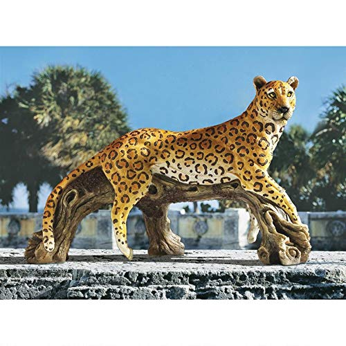 Design Toscano Cyber Leopard Steampunk Statue, Bronze