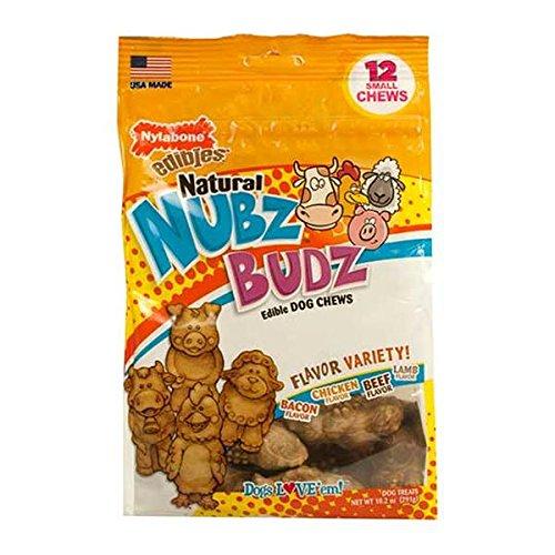 NYLABONE PRODUCTS NUBZ BUDZ VARIETY DOG CHEWS SMALL