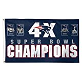 4x superbowl champions - New England Patriots Flag 3x5 NFL 4 Time Super Bowl Champion Deluxe Quad Stitched 4X
