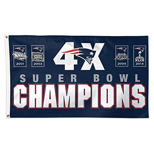New England Patriots Flag 3x5 NFL 4 Time Super Bowl Champion