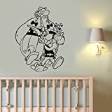 Asterix and Obelix Wall Art Decal Removable Vinyl Sticker French Comics Movie Decorations for Home Housewares Kids Room Bedroom Nursery Cartoon Decor aab3