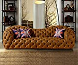 My Aashis Modern Leather Sofa Couch Chesterfield Sofa Big 3 seat