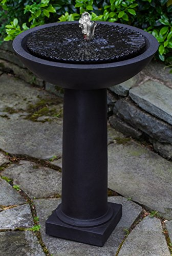 Campania International FT-247-AL Equinox Birdbath Fountain, Aged Limestone Finish by Campania International