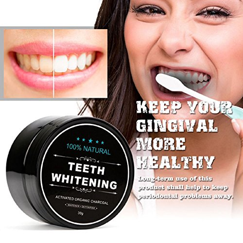 Price comparison product image 100% ORGANIC COCONUT ACTIVATED CHARCOAL NATURAL, TEETH WHITENING CHARCOAL POWDER BY STCorps7