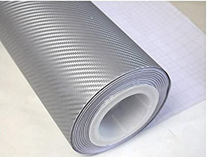 3D Carbon Fiber Film Twill Weave Vinyl Sheet Roll Wrap (24' X 60', Black) F & B LED LIGHTS