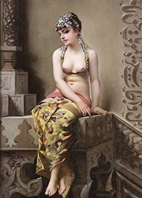 Demonology, Witchcraft, Occult & Magick ENCHANTRESS by Luis Ricardo Falero c1878 250gsm A3 Gloss Art Card Reproduction Poster by World of Art