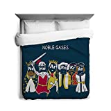 Noble Gases Duvet Cover Funny Royal Element Scientific Bed Print Queen
