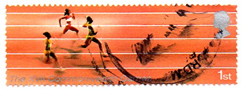 (UK (England, Great Britain) Postage Stamp Single 2002 17th Commonwealth Games Manchester Running Issue Queen Elizabeth II 1st Class Scott #2060)