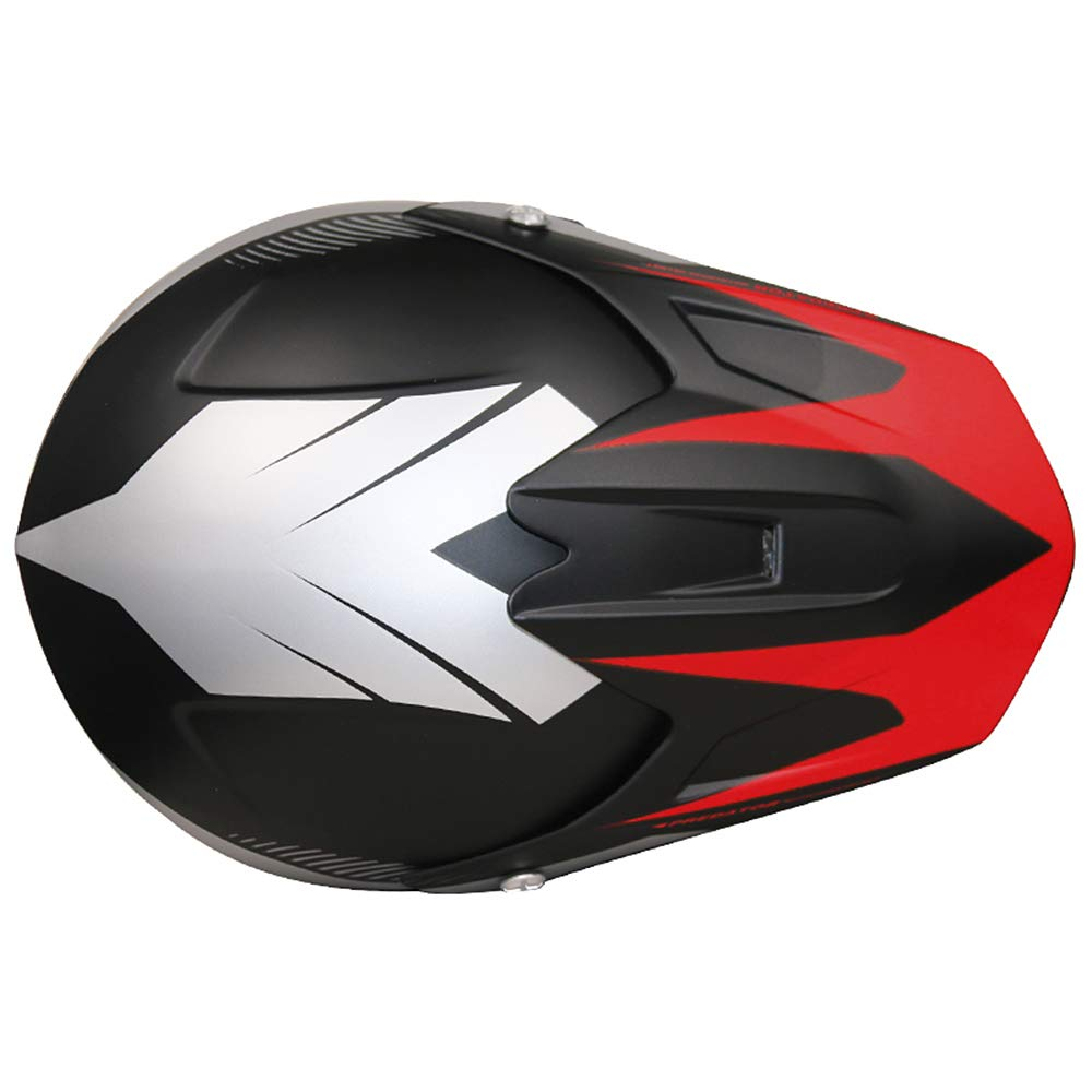 y Guantes S Leopard LEO-X19 Casco de Motocross para Ni/ños Amarillo S 5cm y Gafas ECE Homologado 49-50cm