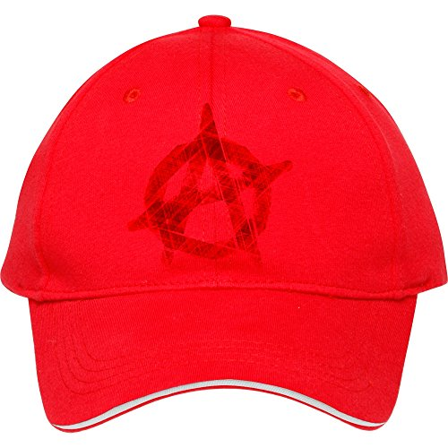 New Fashion Unisex Plain Baseball Caps Anarchy Art Symbol Red Cotton Peaked Hat Casual Outdoor Travel Snapback