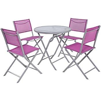 Amazon.com: BLXCOMUS Black Gray Outdoor Dining Set Of 7 ...