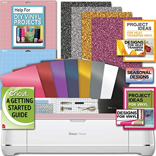 Cricut Maker Machine Bundle 4 Smooth Heat Transfer Permanent Vinyl ()