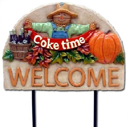 Scarecrow Coke Time Garden Welcome (Coca Cola Garden)