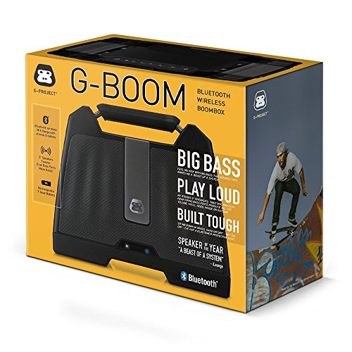 G-Project G-BOOM Wireless Bluetooth Boombox Speaker Rugged Portable Speaker with Rechargeable Battery (Black) by G-Project (Image #2)
