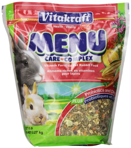 Fortified Rabbit Food - Vitakraft Menu Vitamin Fortified Pet Rabbit Food, 5 Lb.