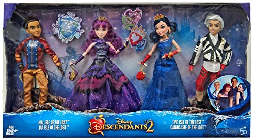 Disney Descendants 2 Dolls Isle of the Lost 4 Pack Mal, Evie, Carlos,  Jay - City At Shops Creek