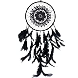 Sikolyn Black Dreamcatcher Natural Feather Handmade