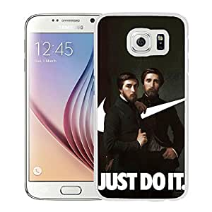 Hot Sale Samsung Galaxy S6 Cover Case ,Nike Just Do It Hippolyte Flandrin Painting Swooshart White Samsung Galaxy S6 Phone Case Unique And Fashion Design